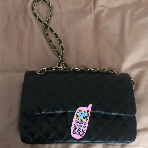 Handbags - Black Quilted bag